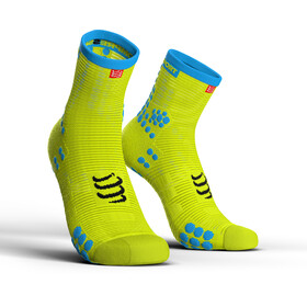 """Compressport Pro Racing V3.0 Run High Socks Fluo Yellow"""